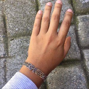 Peruvian Silver Ornate Bracelet